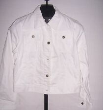 NWT Lauren Jeans Co Ralph Lauren White Denim jacket Misses Size Petite XSmall