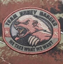 TEAM HONEY BADGER US MILITARY TACTICAL ARMY FOREST VELCRO® BRAND FASTENER PATCH