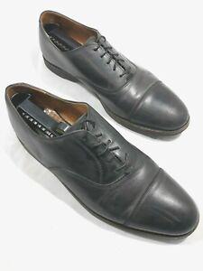 Cole Haan Men's Size 11.5 D Olive/Black Leather Oxford Cap Toe Dress Shoes