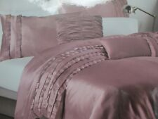 New Dkny 3pc Dusty Rose Pink Luxe Ruffle Duvet Cover Set - King