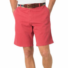 "Southern Tide Shorts Mens 36 Red w/Skipjack Flat Front 9"" Cotton/Modal NWT $85"