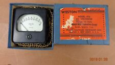 Vintage Meter volts AC 0-10 Weston USA Model 476 SQUARE FACE WITH BOX STEAMPUNK