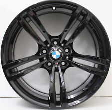 19 INCH GENUINE BMW M4 / M3 F80 2015 MODEL FORGED ALLOY WHEELS IN GLOSS BLACK