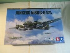 Tamiya 1:72 Junkers Ju88 C-6 Heavy Fighter Model Kit 60777 Open Box