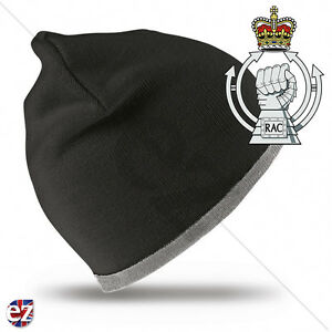 Royal Armoured Corps - Beanie Hat with Embroidered Badge