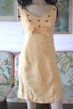 Mid century 1950's 1960's dress yellow summer dress Size 4 to 6  AUS