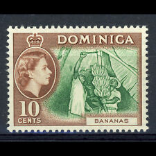 DOMINICA 1954-62 10c Green & Brown. SG 150. Lightly Hinged Mint. (CA105B)