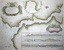 1791 - Large Antique SEA CHART Map DARTMOUTH River DART G.COLLINS (LM4)