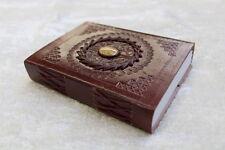 Gr. M, Lederbuch, Kladde, Notizbuch mit Edelstein ca. 12x15cm - SM03