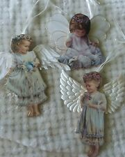 Heavens Little Angels Ornaments First Set Bradford Exchange 1998