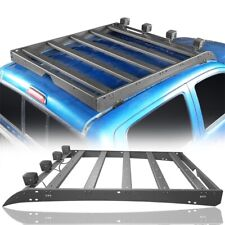 Roof Rack Luggage Carrier w/4x Led Lights For Toyota Tacoma 2005-2019 (4-Door)
