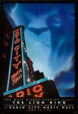 LION KING - 1994 - Orig 27x40 DISNEY movie poster - RACIO CITY MUSIC HALL style
