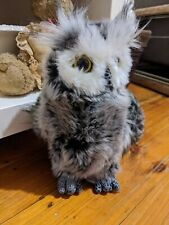 Aurora World Great Horned Owl Plush Toy 23cm Tall Handmade In Indonesia