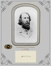 Civil War Confederate Lieutenant General A. P. Hill, Copy portrait & autograph