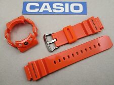 Genuine Casio G-Shock Gulfman G-9100R resin watch band and bezel set orange