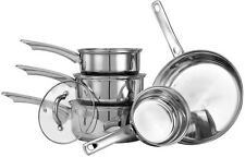 Saucepan Set With Lids Stainless Steel Cookware 5 Pieces Pots And Pans