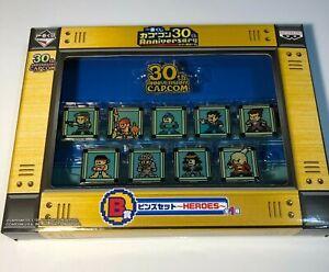 Capcom 30th Anniversary Pin Set B Version - Brand new Jill Valentine Ryu Dante