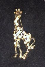 Swarovski Brooch Crystal Giraffe Gold Plated