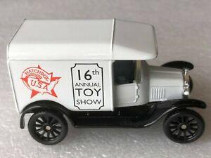 CODE 2 WHITE Matchbox MB44 1921 MODEL 'T' FORD VAN MBUSA 16th TOYSHOW 1997