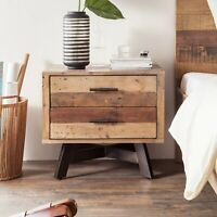 Handicraft Wood Antique Bedside for Home Office Furniture