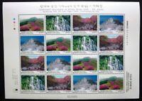Korea Süd 2005 Gebirge Mountains Landschaften II Berge 2484-87 Kleinbogen MNH