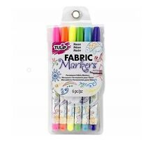 Tulip Permanent Nontoxic Fabric Markers Pack of 6 Neon Shades. NWT