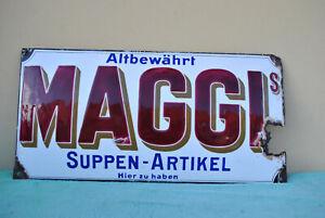 Emailschild Maggi Suppen Schild