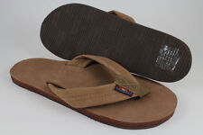 RAINBOW SANDALS PREMIER LEATHER SINGLE LAYER DARK BROWN 301ALTS US MENS SIZES