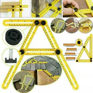 Multi-Angle Ruler Template Tool Tile Floor Measuring Instrument 4 Fold GOOD