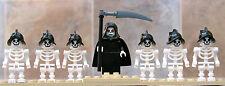 Lego Castle lot Grim Reaper & six skeleton minifigures as pictured
