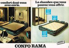 PUBLICITE ADVERTISING 025  1978  CONFORAMA chambre à coucher (2 p)