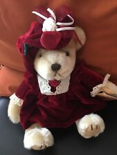 NWT - 9'' Stuffed Bear - Brass Button Collectables - Pearl - The Bear Of Wealth