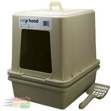 The Kitter Litter Tray With Hood -Portable Pet Cat Toilet Box (Complete Package)