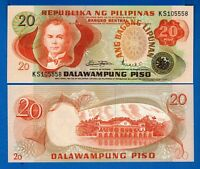 Philippines  P-162 20 Piso Year 1978 Uncirculated Banknote Low Price
