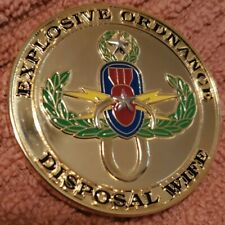 Challenge Coin Explosive Ordinance Disposal EOD Wife