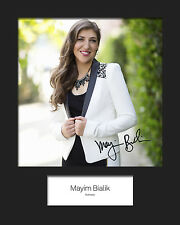 TBBT MAYIM BIALIK #1 10x8 Mounted Signed Photo Print (Reprint) - FREE DELIVERY
