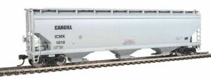 Walthers-60' NSC 5150 3-Bay Covered Hopper - Ready to Run -- Illinois Cereal Mil