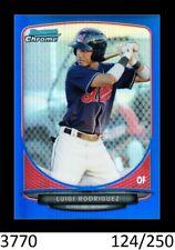 1-2013 BOWMAN CHROME BLUE REFRACTOR LUIGI RODRIGUEZ INDIANS 124/250