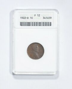 F12 1922-D Lincoln Wheat Cent - Graded ANACS *550