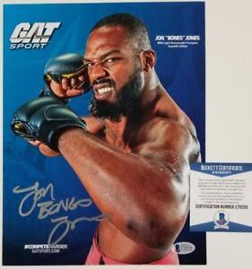 JON BONES JONES Signed 8.5x11 Photo Promo UFC Fighter Legend~ Beckett BAS COA