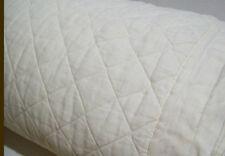 Pottery Barn Belgian Flax Linen Diamond FULL QUEEN quilt IVORY