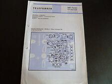 Schaltbild  Service Informationen Telefunken Hifi  Tuner TT 350 hifi