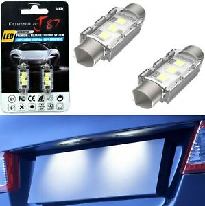 LED 5W Light CANbus 35-36MM White 6000K Two Bulb License Plate Tag Replacement
