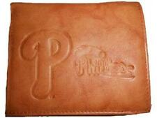 NEW MLB Philadelphia Phillies Adult Mens Tan Leather Bi-Fold Wallet