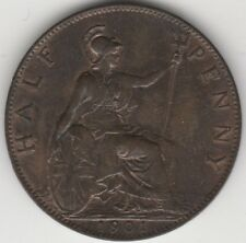 More details for 1901 victoria halfpenny   british coins   pennies2pounds
