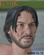 "Kumik 16-75 John Wick Keanu Reeves 1/6 Head Sculpt F 12"" Male Action Figure Toys"
