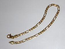 Gold 585 Bracelet Gelbgold Armband 6,5 g Figarokette 21 cm Armkette 2284 neu