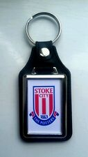 Stoke City  Football Club  new  Quality leather fob Keyring.  Ideal gift