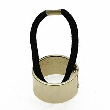 Fashion Alloy Hemicycle Ring Hair Cuff Wrap Ponytail Holder Band (Golden) B I0Y8