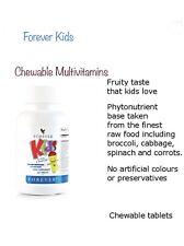 Forever Living niños masticable Multivitaminas fecha de caducidad - 2020 Tabletas - 120 Nuevo
